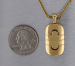 "Vintage Estate Bvlgari 18K 750 Yellow Gold 18.00"" Parentesi Pendant Necklace"