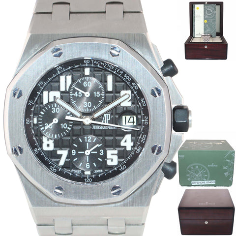 PAPERS Audemars Piguet Royal Oak Offshore 26020ST.OO.D101CR.01 Chronograph Watch