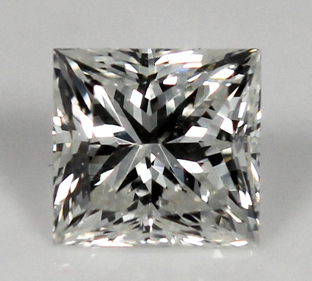 GIA Certified 0.96ct Loose Square Modified Brilliant Princess Cut Diamond I VS1