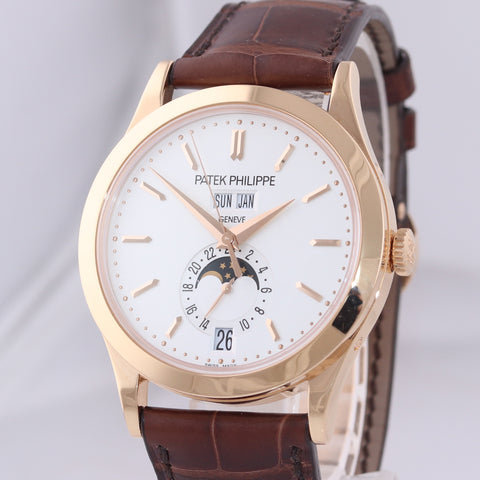 PAPERS Patek Philippe 5396R Annual Calendar Moonphase Rose Gold Calatrava Watch