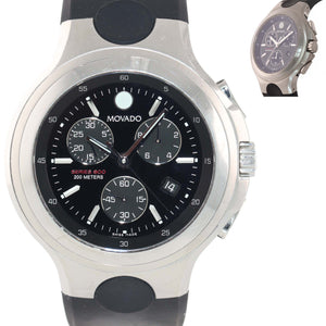 Movado Series 800 84 C5 Stainless Steel 46mm Quartz Chronograph Date Watch