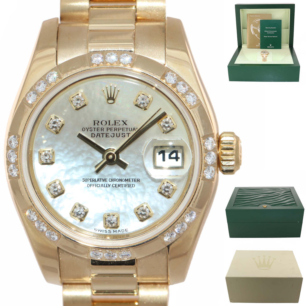 FACTORY MOP DIAMOND Ladies 179368 Rolex DateJust Diamond Dial & Bezel 26mm
