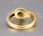 Modernist Vintage Estate Tiffany & Co. 750 18K Yellow Gold 0.52ctw Diamond Ring