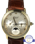Chopard Luna Doro Calendar Moonphase 18K Gold Silver 32.5mm Automatic 1131 Watch