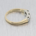 Vintage Estate Platinum & 14k Yellow Gold Diamond 0.15ctw Wedding Band Ring