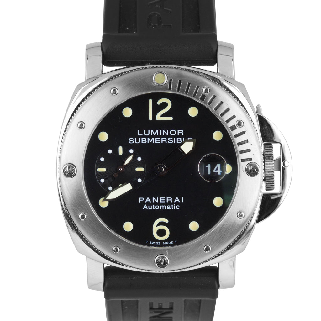 Panerai PAM 24 44mm Luminor Submersible Rubber Band Automatic Watch PAM00024