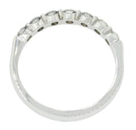 Modern Estate Women's 14k Solid White Gold .35ctw Diamond Wedding Band Ring