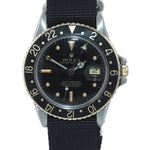 Rolex GMT-Master 16753 Jubilee Two-Tone Nipple 18k Gold Steel Nato 40mm Watch