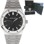 NEW Audemars Piguet Royal Oak 41mm Steel Black Watch 15500ST.OO.1220ST.03
