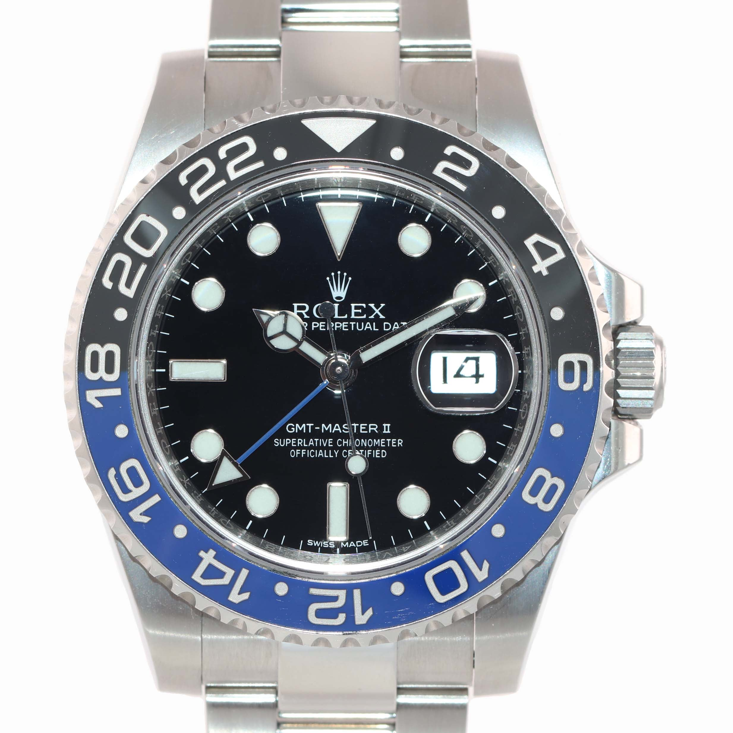 2019 PAPERS Rolex GMT Master II 116710 BLNR Steel Ceramic Batman Blue Watch