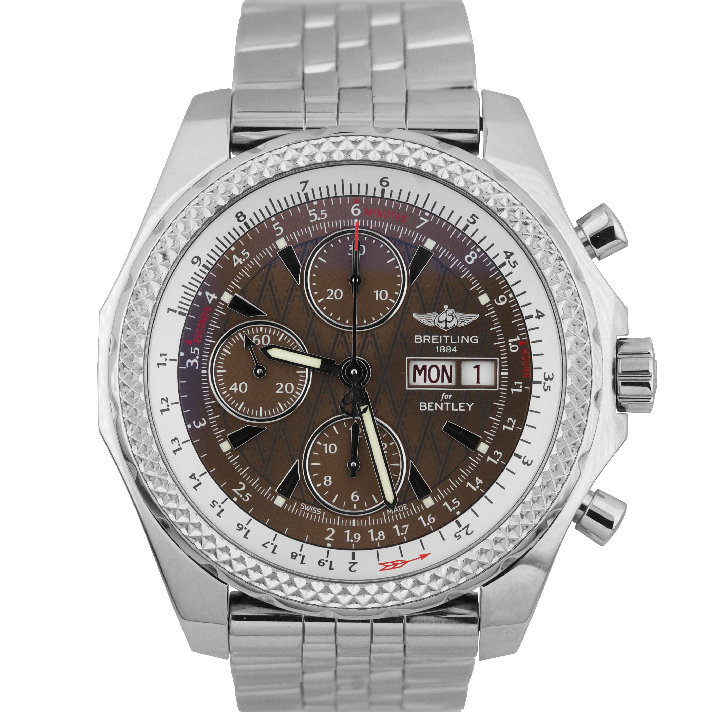 Breitling Bentley GT Day-Date Chronograph Bronze Stainless A13362 44.8mm Watch