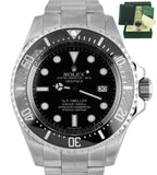 MINT Rolex Sea-Dweller Deepsea 116660 Stainless Steel 44mm Black Dive Watch