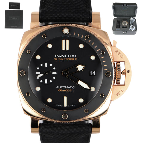 MINT 2019 Panerai Luminor 1950 Submersible 18K Rose Gold 42mm PAM 974 PAM00974