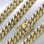 "Modern 119.3g 14k Yellow Gold Cuban Link 22"" Chain Necklace"