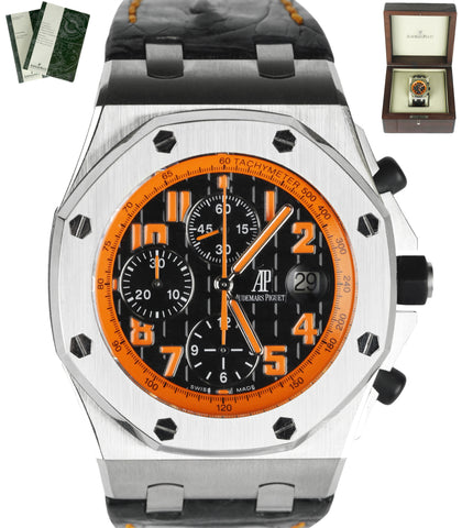 MINT Audemars Piguet Royal Oak Offshore Volcano Orange 26170 Stainless Watch