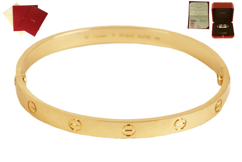 2020 Cartier Love NEW STYLE SCREWS Size 19 18K 750 Yellow Gold Bangle Bracelet