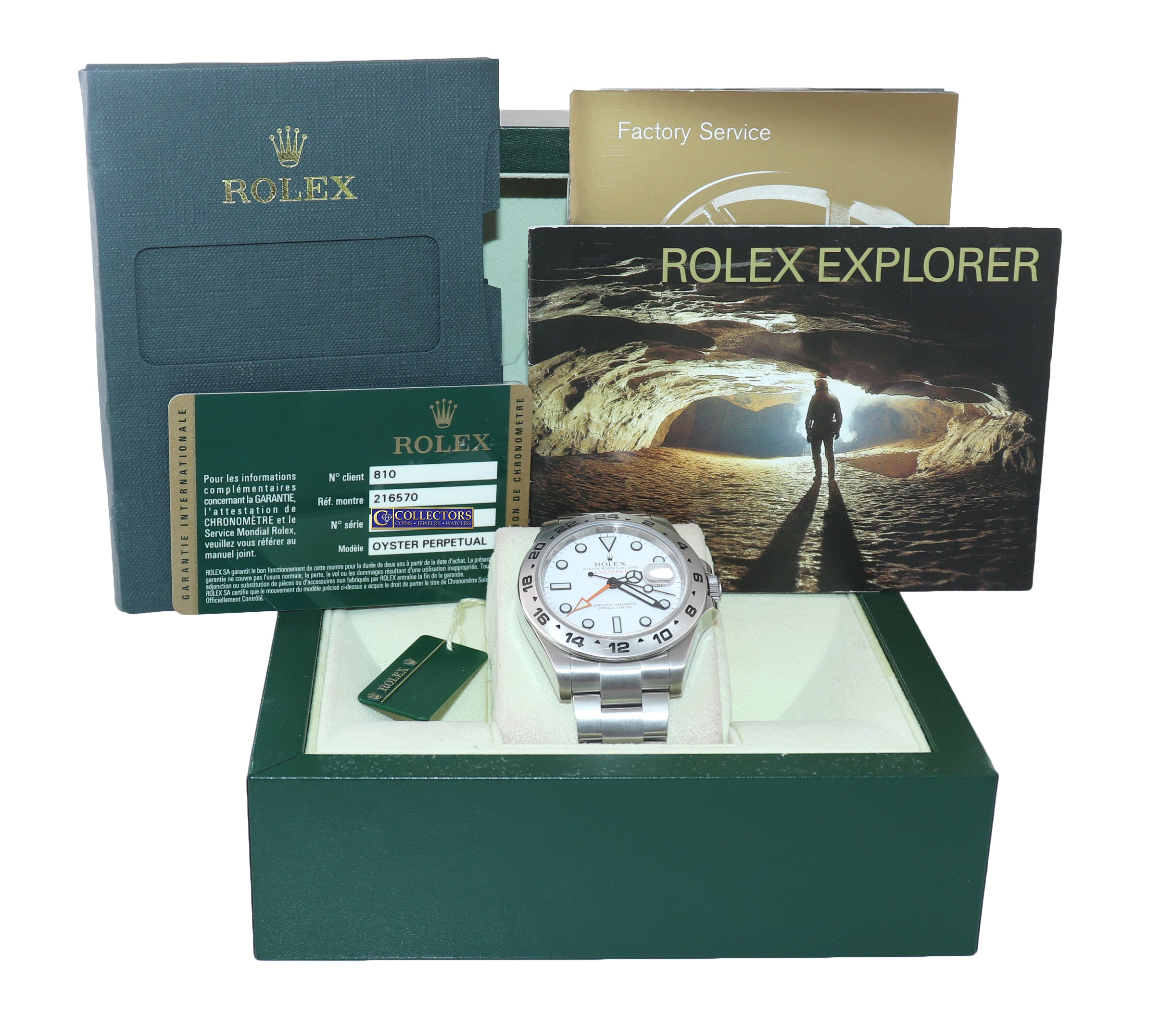 PAPERS Rolex Explorer II 42mm 216570 White Polar Steel GMT Date Watch Box