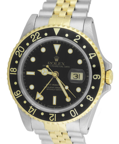 MINT Rolex GMT-Master II 16713 N Two-Tone Gold Steel Black Jubilee 40mm Watch
