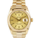 1980 Rolex Day-Date President Champagne 36mm S Quick 18K Yellow Gold Watch 18038