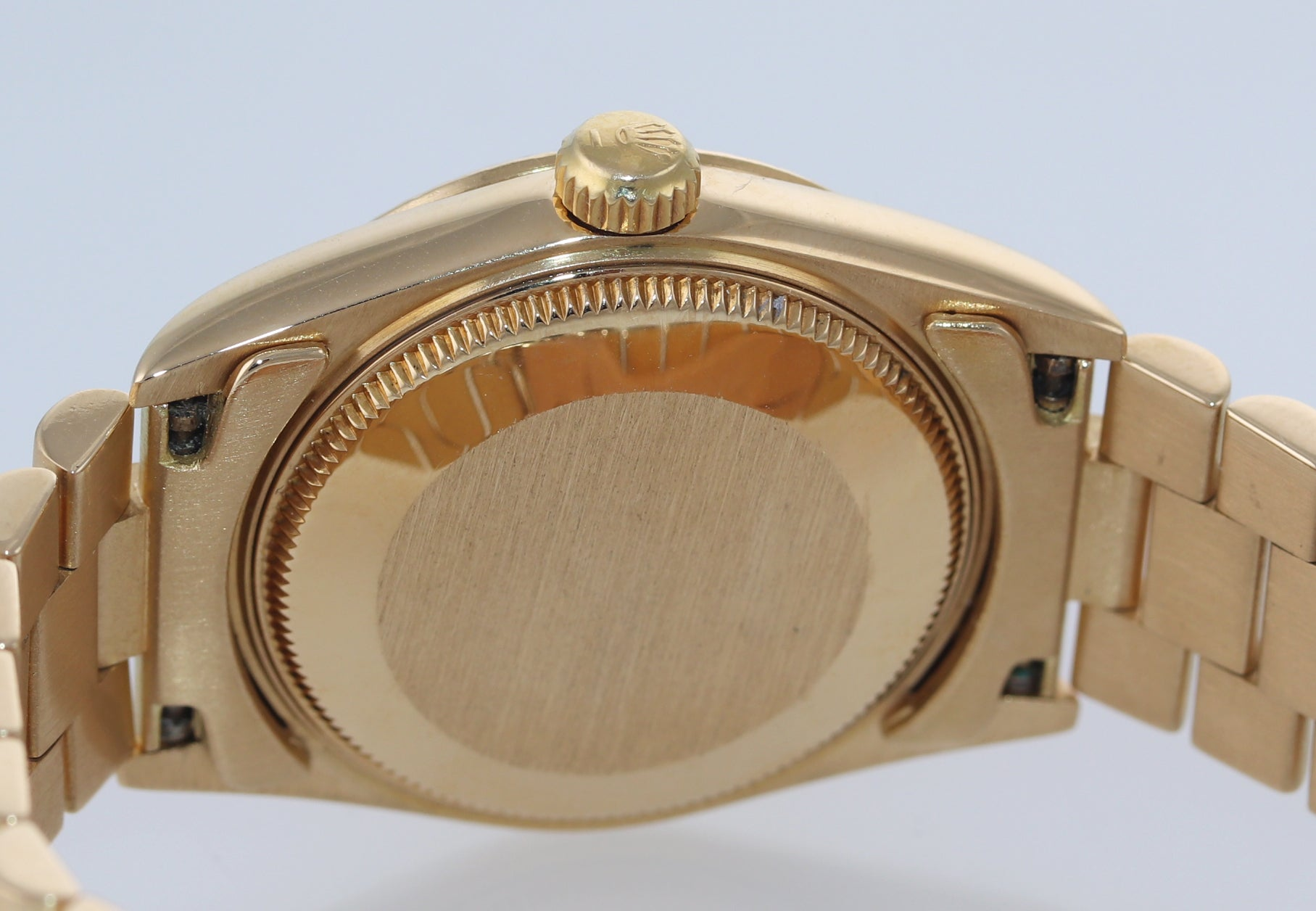 PAPERS Rolex President 68278 Midsize 31mm 18k Gold Champagne Dial Watch Box