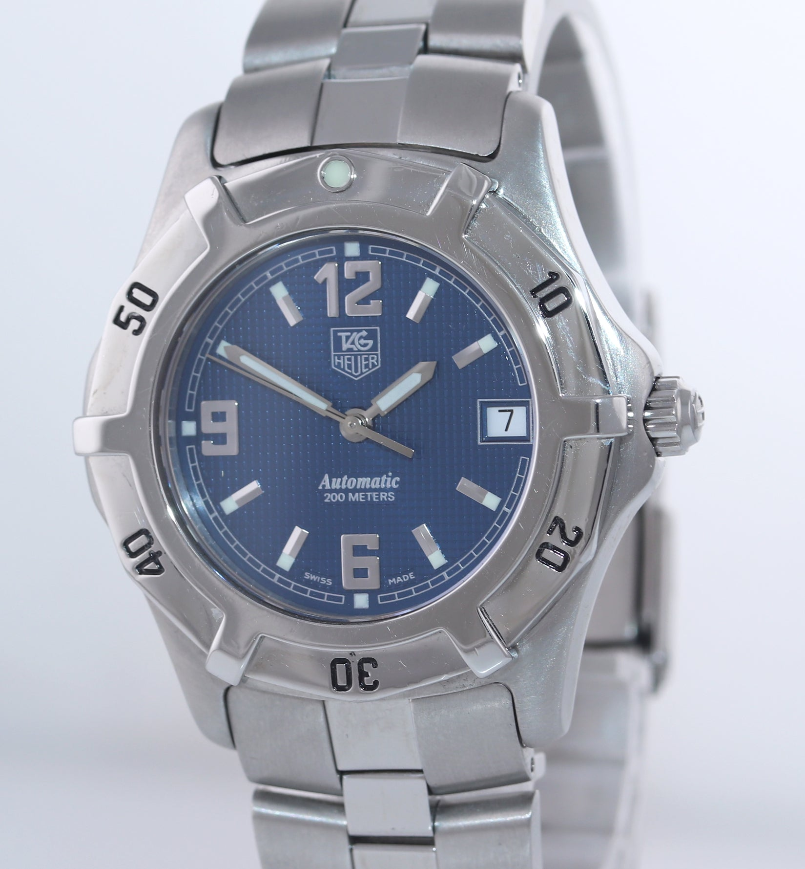 Tag Heuer 2000 Automatic Diver Stainless Steel WN2112 39mm Blue Date Watch