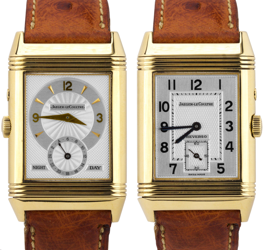 Jaeger LeCoultre JLC Reverso Duo Day Night 26mm Silver 270.1.54 18K Gold Watch