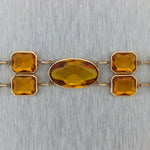 1880's Antique Victorian 14k Yellow Gold Citrine Bracelet