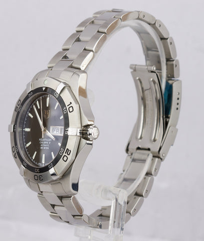Tag Heuer Aquaracer Calibre 5 Day Date Black 41mm Stainless Steel WAF2010 Watch