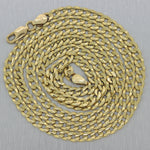 "Mens Chain 16.85g Heavy 14k Yellow Gold Cuban Curb Link 25"" Long Necklace"