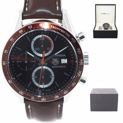 TAG Heuer Carrera Chronograph CV2013 Steel Brown 41mm Date Calibre 16 Watch