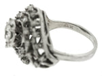 Ladies Estate 14K White Gold 1.61ctw Diamond Spiral Seashell Cocktail Ring