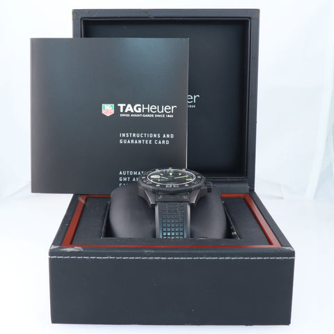 BOX PAPERS Tag Heuer Aquaracer WAJ2180 Full Black Calibre 5 Diver 43mm Watch