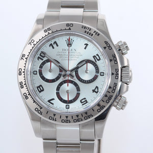 2015 PAPERS Rolex Daytona Silver Dial 116509 18k White Gold NEW BUCKLE Watch Box