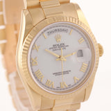 MINT Rolex Day-Date President Heavy Band 18K Gold White Roman118238 Watch D8