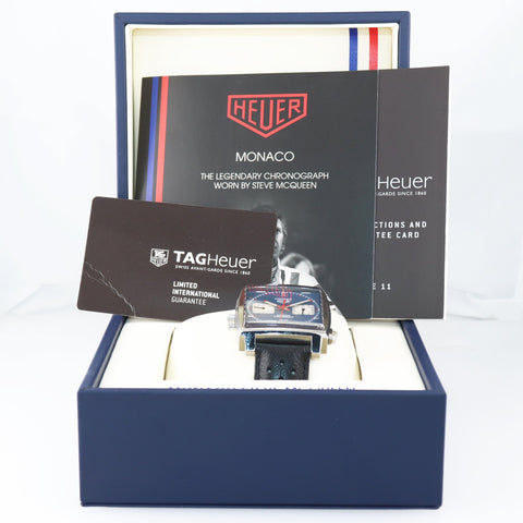 PAPERS Tag Heuer Monaco Calibre 11 Chronograph Date CAW211P Automatic 39mm Watch