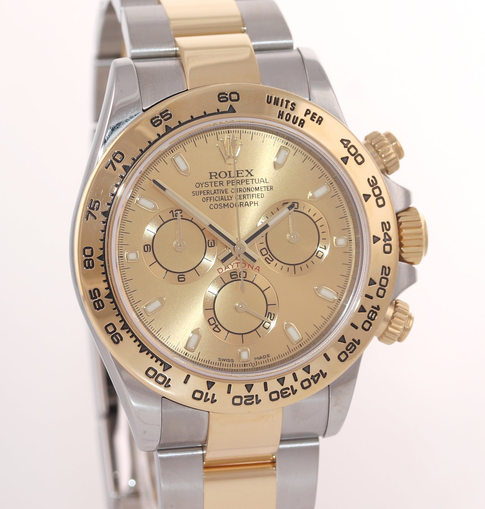 MINT PAPERS 2018 Rolex Daytona 116503 Champagne Two Tone Steel Gold Watch Box