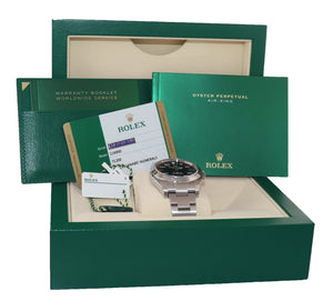 PAPERS NEW 2020 Rolex Air-King 116900 Green Arabic 40mm Steel Oyster Watch Box