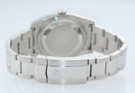 MINT WARRANTY PAPERS Rolex DateJust Silver Stick 116200 36mm Oyster Steel Watch
