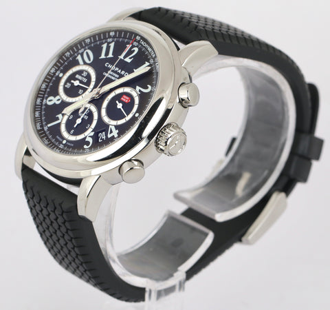 MINT Chopard Mille Miglia 8511 42mm Chronograph Automatic Stainless Black Watch