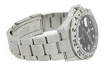 2009 ENGRAVED REHAUT Rolex Explorer II 16570 Z Black Date GMT 40mm Watch B&P