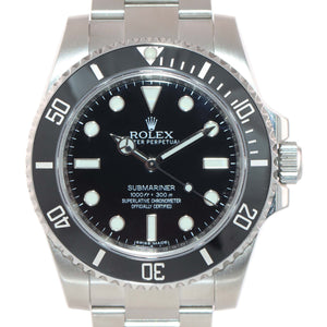 2019 PAPERS Rolex Submariner No-Date 114060 Steel Black Ceramic Watch Box