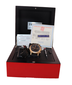 PAPERS Panerai Ferrari Rose Gold Grand Turismo 45mm Chronograph FER00006 Watch