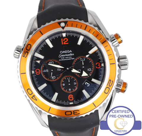 Omega Seamaster Planet Ocean 600m Co-Axial Chronograph Black Orange 2918.50.82