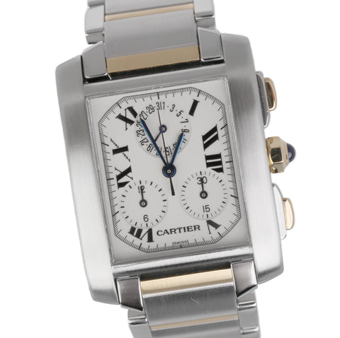 Cartier Tank Francaise Chronoflex Chronograph Two Tone Automatic W51025Q4 2303
