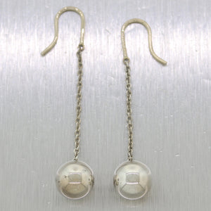 Tiffany & Co. Sterling Silver Hard Wear Ball Hook Earrings