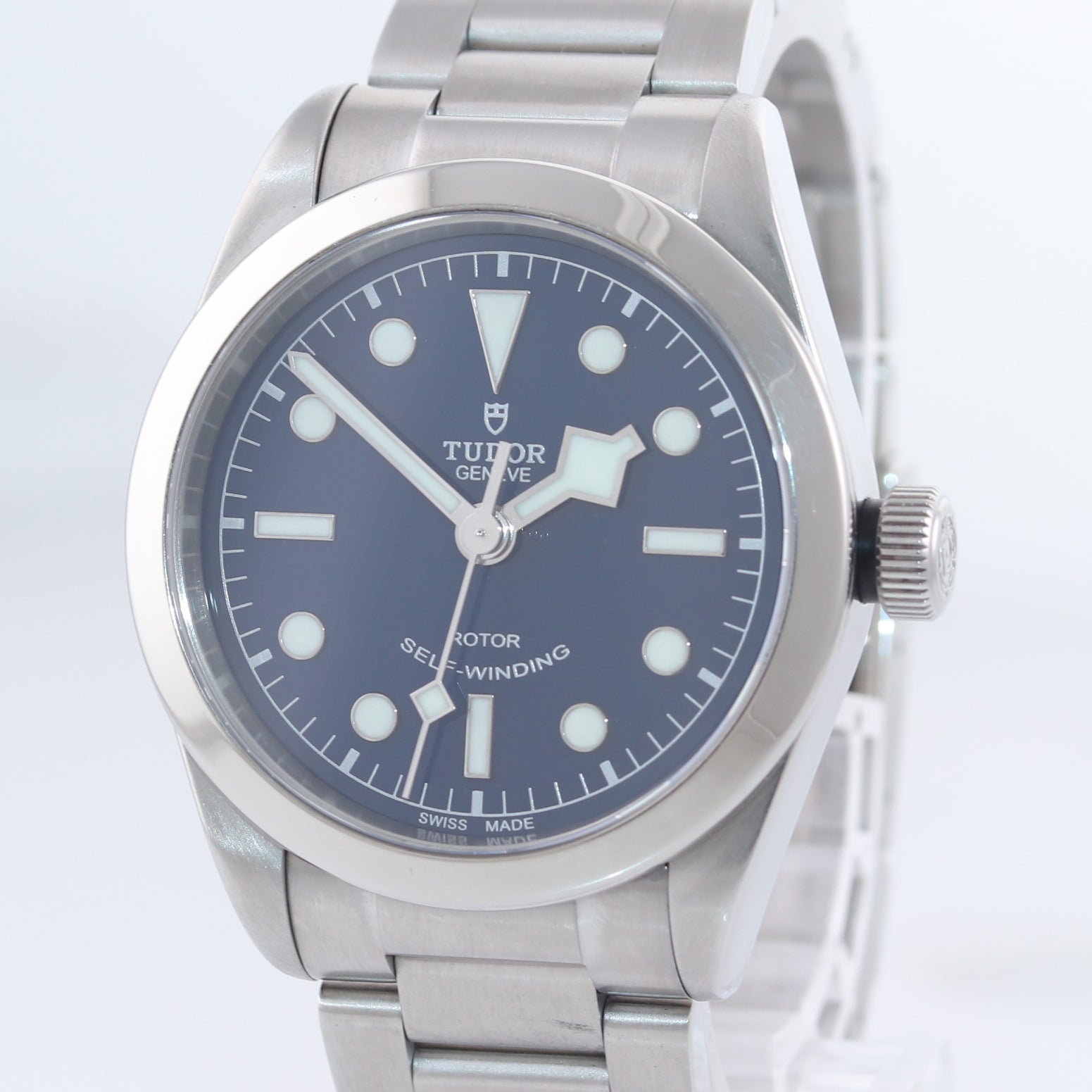 MINT PAPERS 2018 Tudor Black Bay 36 Steel Blue Automatic Watch 79500 36mm