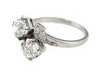 Lovely Ladies Estate Platinum 1.68ctw Old Mine Brilliant Diamond Ring EGL