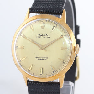 Vintage Rolex Oyster Precision Solid 18k Yellow Gold 8940 Manual Wind 36mm Watch