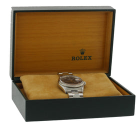 2003 Rolex DateJust 36mm 16234 Steel Blue Roman Oyster 18k Gold Date Watch w Box