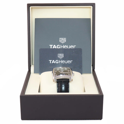 MINT PAPERS Tag Heuer Monaco WAW131A Quartz Black 37mm Steel Date Watch